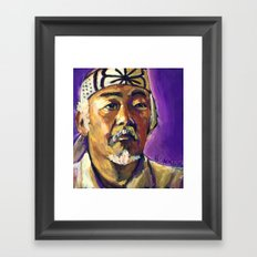Mr Miyagi Framed Art Print