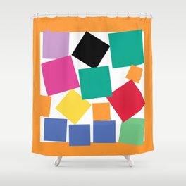 Square Elephant Shower Curtain