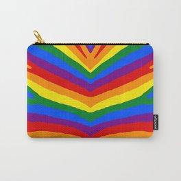 Gay Pride Rainbow Flag Zebra Safari Stripes Carry-All Pouch