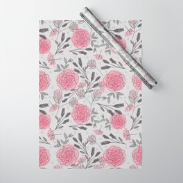 Soft and Sketchy Peonies Wrapping Paper