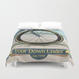 Tour Down Under Bike Race Duvet Cover