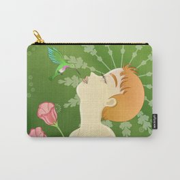 The Girl and the Hummingbird Carry-All Pouch