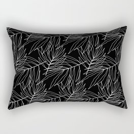 Black leaves Rectangular Pillow