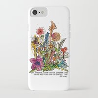 scripture iPhone & iPod Cases featuring Floral Watercolor with Scripture by Megan Schreurs