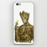groot iPhone & iPod Skins featuring Groot by Augeo