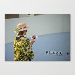 Portrait of a selfie Canvas Print