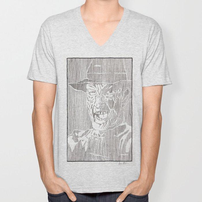 Freddy Krueger by Aaron Bir Unisex V-Neck