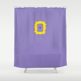 Friends Peephole Frame Shower Curtain