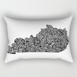 Typographic Kentucky Rectangular Pillow