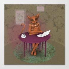 when I'm a cat - I pretend to work Canvas Print