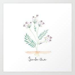 Siembra Amor Art Print