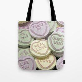 Love heart sweet words Tote Bag