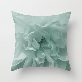 Sepia Mint Rose Throw Pillow