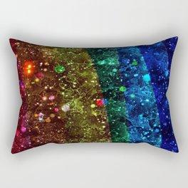 Space Rainbow Rectangular Pillow