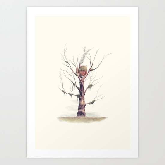 The Swamp Witch's Treehouse Art Print