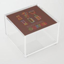 ENJOY YOUR COFFEE Acrylic Box