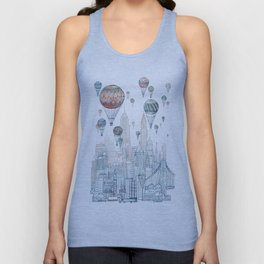 Voyages Over New York ~Refresh Unisex Tank Top