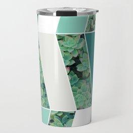 Teal Herringbone #society6 #teal #succulent Travel Mug