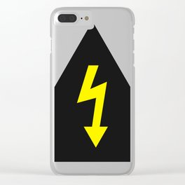 electric current danger signal Clear iPhone Case