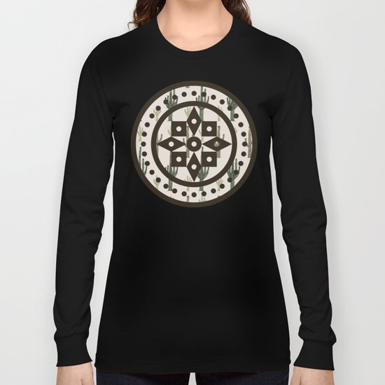 Cactus Pattern Long Sleeve T-shirt