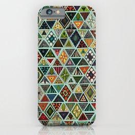 sun bear geo mint iPhone Case