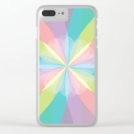 Squared Pinwheel of Pastels Clear iPhone Case