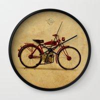 ducati Wall Clocks featuring Ducati 1950 - Classic bike by Larsson Stevensem