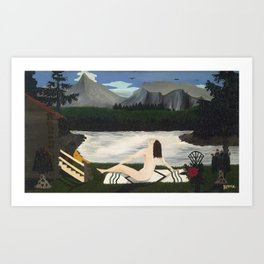 Lady of the Lake by by Horace Pippin, 1936 Art Print
