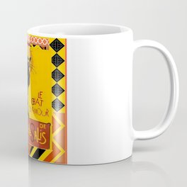 Le Chat Noir D'Amour With Ethnic Border Coffee Mug