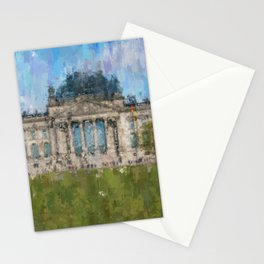 Reichstag, Berlin    /  impressionism style Illustration  / painting abstract landmarks drawing Stationery Cards