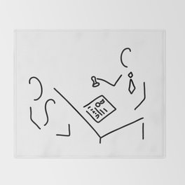 notary public lawyer Throw Blanket