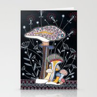 mushrooms Stationery Cards featuring Mushrooms by Asja Boros
