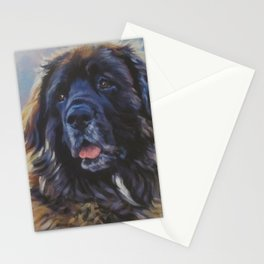 Leonberger dog art portrait from an original painting by L.A.Shepard Stationery Cards