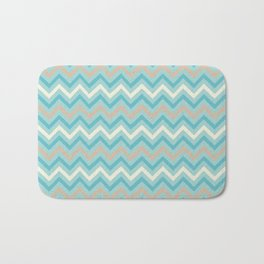 aqua-brown Chevron Bath Mat
