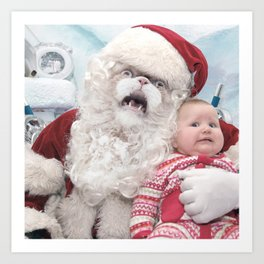 Santa Love You Art Print
