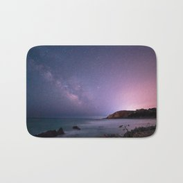 Milky way in the sky of Sardinia Bath Mat