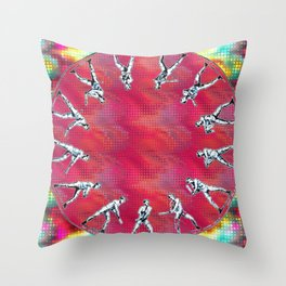 zoopraxiscope man Throw Pillow