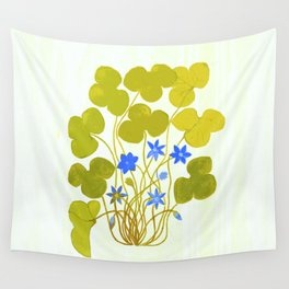 The blue and the green Wall Tapestry