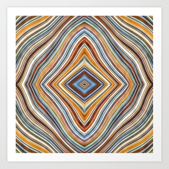 Wild Wavy Diamonds 10 Art Print