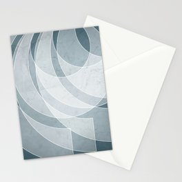 Orbiting Lace in Teal Tones Stationery Cards