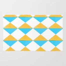 Diamonds Soles Shoes Yellow Blue Rug