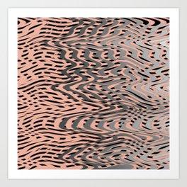 Electric Waves Art Print