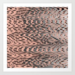 Electric Waves Art Print