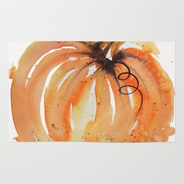 Abstract Watercolor Pumpkin Rug