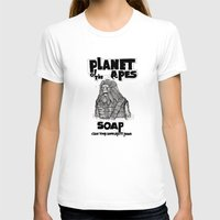 planet of the apes T-shirts featuring Planet of the Apes Soap by peter glanting