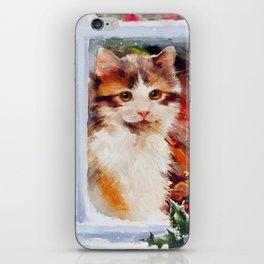 Christmas Kitten iPhone Skin