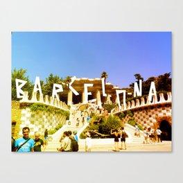 Barcelona city Canvas Print