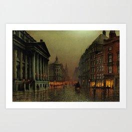Mansion House, London, England Cityscape by Louis H. Grimshaw Art Print