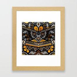 Tribal Festival Noir Framed Art Print