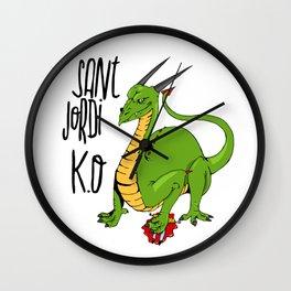 Sant Jordi K.O Wall Clock